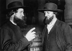 Zwei Quäker im Gespräch