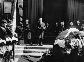 Das Begräbnis des Schauspielers Georg Reimers