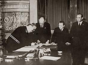 Unterzeichnung der Römischen Protokolle