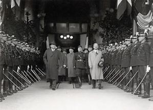 Benito Mussolini, Kurt Schuschnigg, Gyula Gömbös