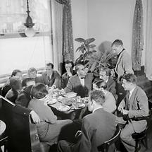 Literatenkreis im Wiener Cafe Raimund