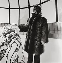 Arnulf Rainer zeigt sein TRRR-Plakat