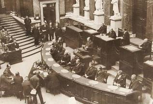 Politiker im Wiener Parlament