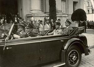 Mussolini auf dem Weg zu Hitler