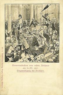 Momentaufnahme vom österreichischen Reichsrat