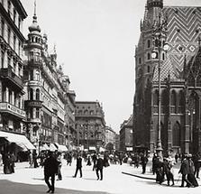 Der Stephansplatz mit der Rotenturmstraße