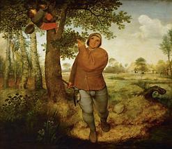 Bauer und Vogeldieb