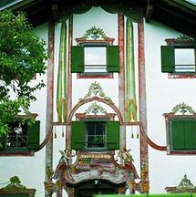 Fassadenmalerei in Obergilben in Tirol