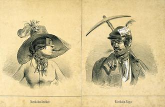 Karikaturen zur Wiener Revolution 1848