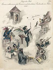 Satirisches Bild auf die Revolution 1848