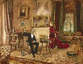 Herr und Dame in einem Salon