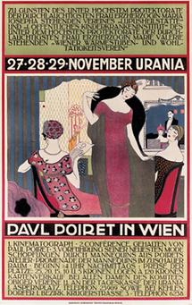 Plakat: Paul Poiret in Wien