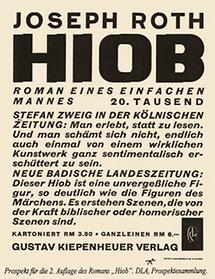 Verlagsprospekt für Hiob