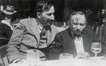 Stefan Zweig und Josef Roth in Ostende