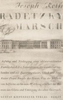 Buchumschlag: Radetzkymarsch