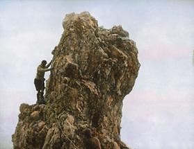 Kletterei in gut gestuftem Gelände