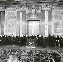 Russische und amerikanische Delegierte