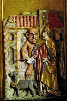 Detail aus dem Waldburger St. - Wolfgangs- Altar