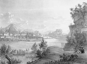 Salzburg. Die Stadt gegen Morgen. 3te Ansicht