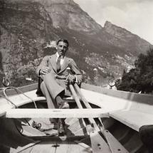Fritz Waerndorfer in einem Ruderboot