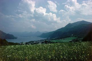 Blick auf St. Gilgen und den Wolfgangsee