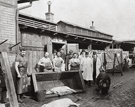Schweineschlachthaus in Wien St. Marx