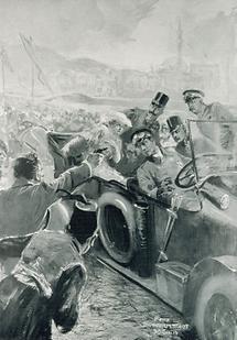 Attentat auf den Thronfolger Erzherzog Franz Ferdinand