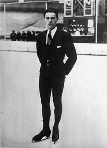 Der österreichische Eiskunstläufer Karl Schäfer