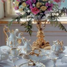 Gedeckter Tisch in Schloss Schönbrunn