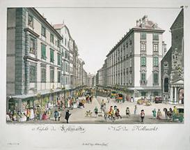 Wien: Blick vom Michaelerplatz auf den Kohlmarkt