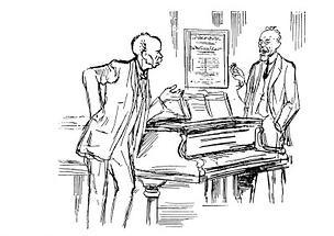 Zeichnung von R. Strauss und Franz Schalk