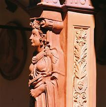 Relieffigur in der Schallaburg