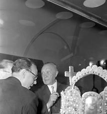 Der deutsche Bundeskanzler Konrad Adenauer