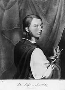 Selbstportrait Johann Evangelist Scheffer von Leonhardshoff