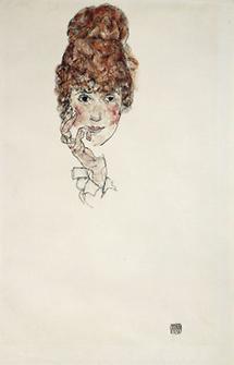 Portraitkopf Edith Schiele