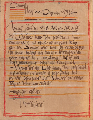 Brief von Egon Schiele, © IMAGNO/Austrian Archives