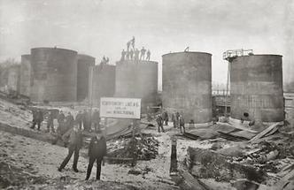 Behälterbau bei der Linzer Schiffswerft