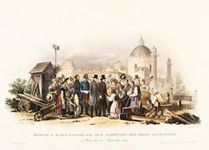 Kaiser Franz I. besucht die Cholera-Kanäle
