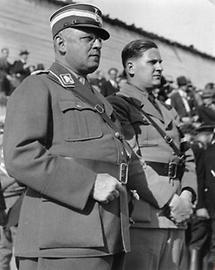 Reichsjugendführer Baldur von Schirach mit Reichsminister Franz Seldte