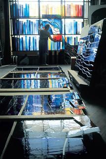 Werkstatt für Glasmalerei im Zisterzienserstift Schlierbach