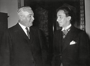 Guido Schmidt und Konstantin Freiherr von Neurath