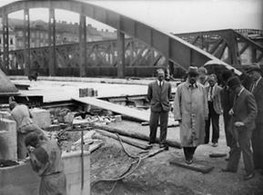 Arbeiten an der Rotundenbrücke