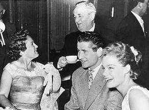 Hans Moser mit Magda  und Romy Schneider