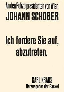 Plakat von Karl Kraus
