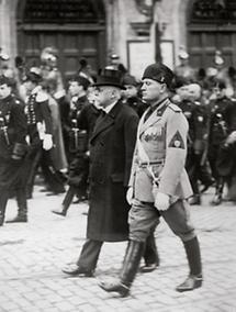 Benito Mussolini und Kanzler Johann Schober