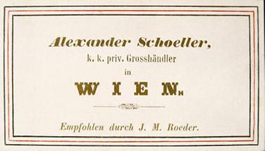 Geschäftskarte von Alexander Schoeller