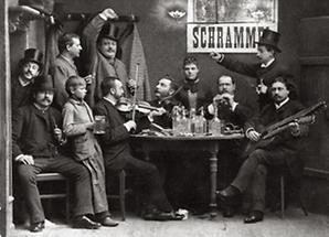 Schrammel-Quartett beim Heurigen