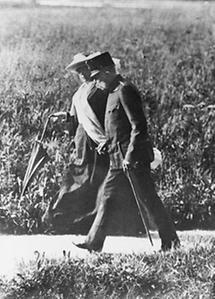 Kaiser Franz Joseph I mit Katharina Schratt