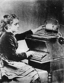 Eine Schreibmaschine aus dem Jahre 1872