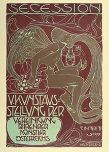 Plakat für die V. Kunstausstellung der Wiener Secession